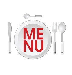 Menu sign of vector
