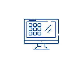 modern monitor line icon concept modern monitor vector image
