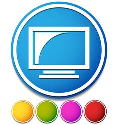 Monitor icon screen display a computer monitor vector
