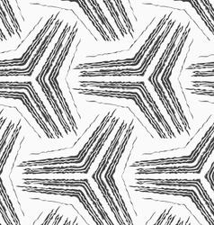 Monochrome rough striped big tetrapods vector image