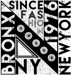 new york city slogan t shirt graphics tee print vector image