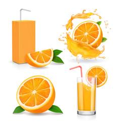 orange juice splash or jam logotype vector image