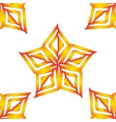Orange stars vector