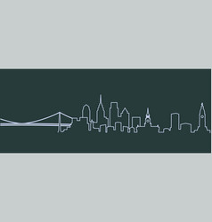 philadelphia single line skyline vector image