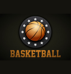 Premium basketball label vector