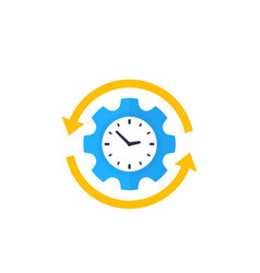 Productivity production efficiency icon vector