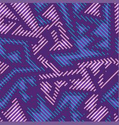 purple geometric seamless pattern vector image