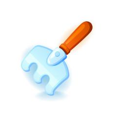 rake icon for web and mobile games garden vector image