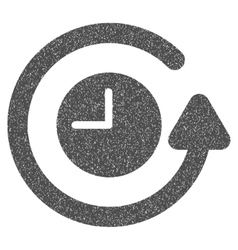 Restore Clock Grainy Texture Icon vector image