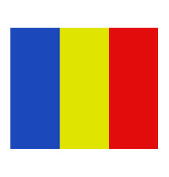romania flag in on white background vector image