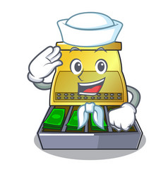 Sailor electronic cash register isolated on a vector