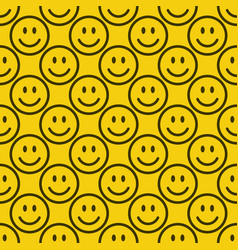 seamless emoji pattern vector image