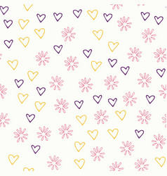 seamless multicolored doodle background with vector image