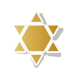shield magen david star inverse symbol of israel vector image