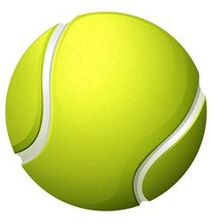 Single light green tennis ball vector image