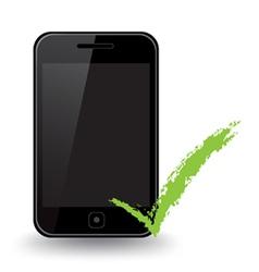Smart phone check vector
