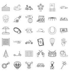 smiling icons set outline style vector image