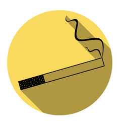 smoke icon great for any use flat black vector image