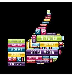 Social media thumb up vector image
