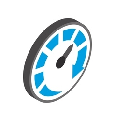 Speedometer or gauge icon isometric 3d style vector