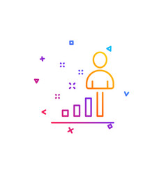 Stats line icon business management sign vector