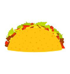 taco mexico food tacos with meat and vegetable vector image