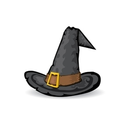 Tall witch hat isolated on white vector