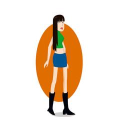 trend girl vector image