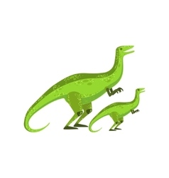 Velociraptor dinosaur prehistoric monster couple vector