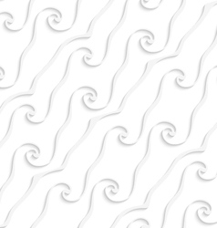 White curved lines and swirls vector