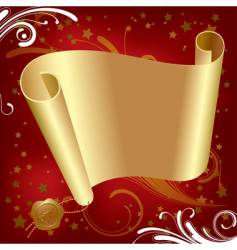 Christmas & New-Year's gold parchment vector image vector image