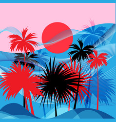graphics tropical landscape vector image
