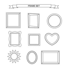 line photo frames vector image vector image