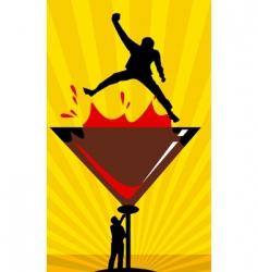 men drinking wine vector image