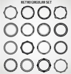 Retro Circular Set vector image
