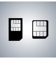 Set icons SIM card vector image