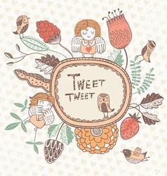 tweet tweet vector image vector image