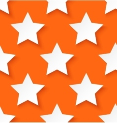 White paper seamless star pattern background vector image vector image