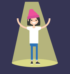 young successful brunette girl standing in the vector image vector image