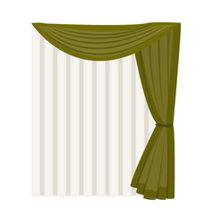 Curtains single icon in cartoon stylecurtains vector