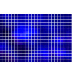 Dark blue square mosaic background over white vector