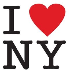 I love new york vector