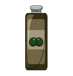 olive oil bottle icon vector image vector image