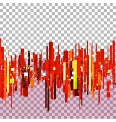 Straight red lines vector image