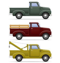 car pickup 04 vector image