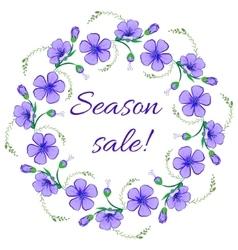 Floral frame wreath design element season sale vector