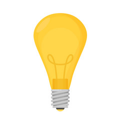 lightbulb isolated icon pictogram eps 10 vector image