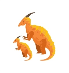 Parasaurolophus Dinosaur Prehistoric Monster vector image vector image
