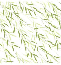 Seamless pattern of bamboo leaves vector