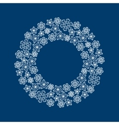Stock christmas wreath with white vector image